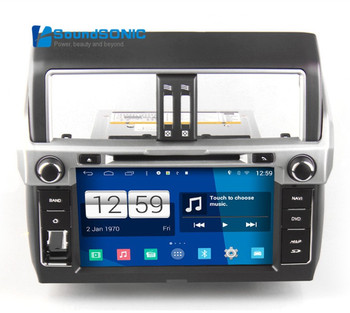 Android 4.4.4 Для Toyota Land Cruiser Prado Автомобилей Радио Стерео DVD GPS Навигации Навигатор Авторадио Головное устройство