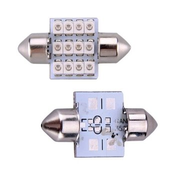10X) 2*12 3528 SMD LED innenraumbeleuchtung innenbeleuchtung Авто индикатор Блау