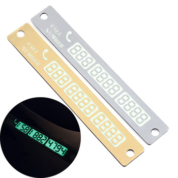 Luminous Temporary Parking Card With For Mini Cooper Cooper Countryman Cooper Paceman R56 R57 R58 R60 R61