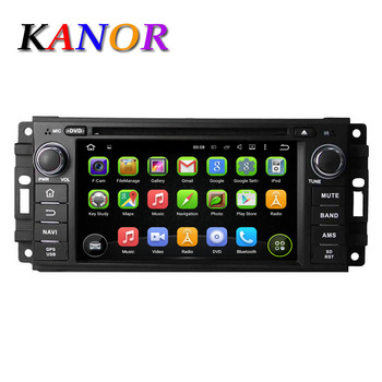 Android 5.1 Quad Core Dvd-плеер Автомобиля Для Grand Cherokee Wrangler Compass 300C 2010 С Gps-навигация Мультимедиа WI-FI