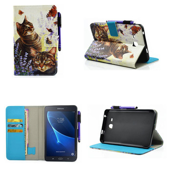 For Tab a6 7.0 T285C Case For Samsung Galaxy Tab A 7.0 T280 T285 SM-T280 Case Cover Tablet Fashion Cute Flip PU Leather Funda